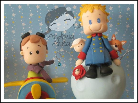 Pequeno Príncipe com Aviador - Andreia Akita