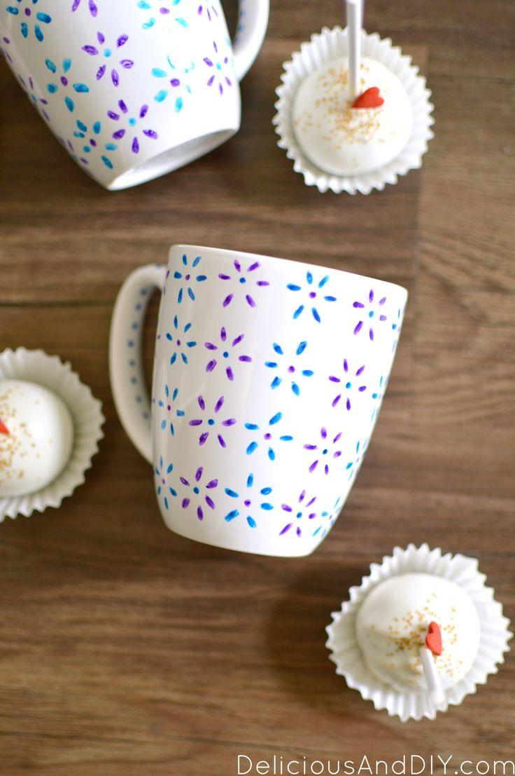 Best 25+ Hand painted mugs ideas on Pinterest | Painted ...