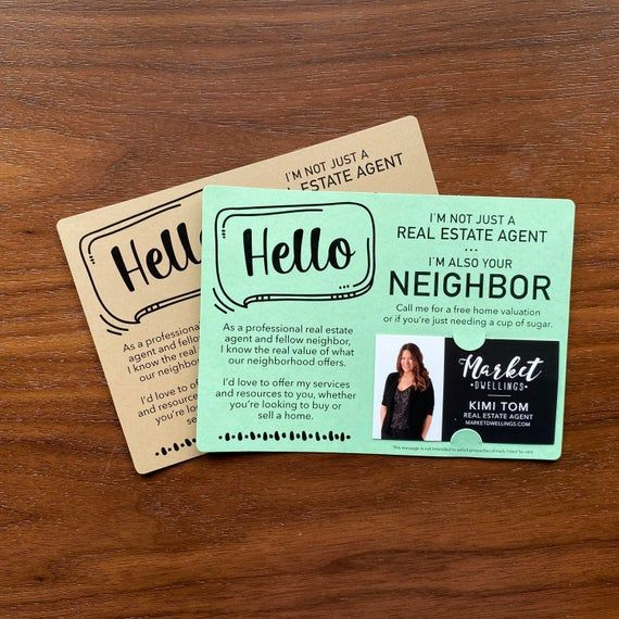 Set Of I M Not Just A Real Estate Agent I M Also Your Neighbor Mailer Real Estate Agent Marketing Promote Business Mailable M8 M003 Real Estate Agent Marketing Real