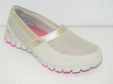 "Women's Skechers EZ Flex ""Take It Easy"" - Natural (#22258) (7, Natural) Footmarks Shoes. $54.99"