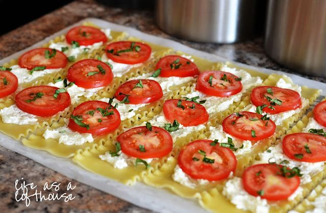 Caprese Lasagna Roll Ups - Life In The Lofthouse
