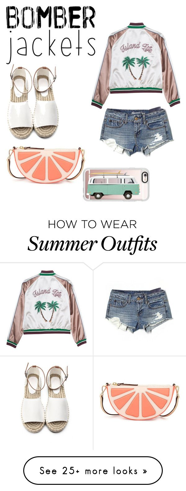"""Bomber jackets"" by kaylieq on Polyvore featuring American Eagle Outfitters, Kate Spade, Casetify and bomberjackets"