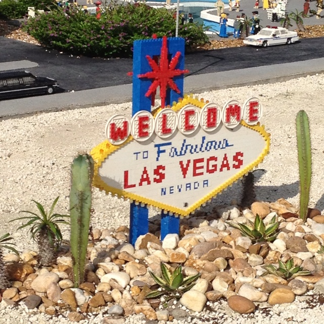 Legoland does the Welcome To Fabulous Las Vegas sign.