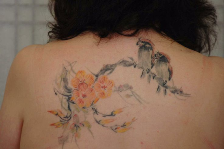 watercolor birds and flowers tattoo | Watercolor tattoos | Pinterest | Watercolors, Flower and ...