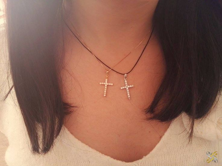 Cross 14K gold - Σταυρός 14Κ χρυσός με Συνθετικά Ζαφείρια