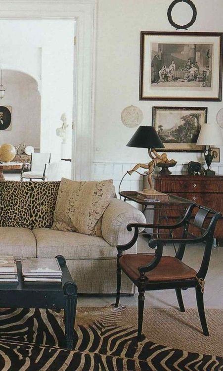 Artist Frank Faulkner's living room