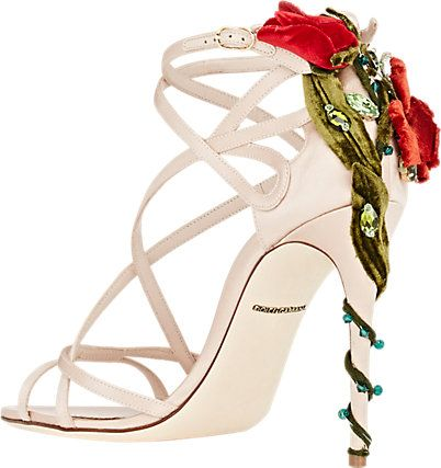"""White strappy sandals by Dolce & Gabbana, $1,395 To describe these shoes simply as """"white strappy sandals"""" would be to do them a huge dis-service, because there are white str…"""