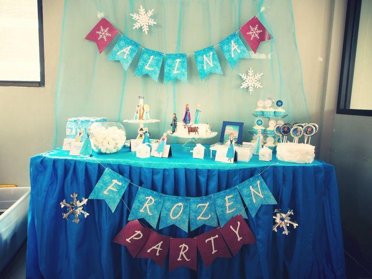 Alina Birthday, Frozen Themes
