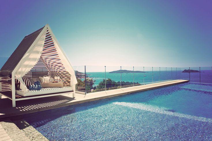 Rooftop Pool, ME Ibiza Hotel, Santa Eulalia. Pinned by ibizadiscover.com