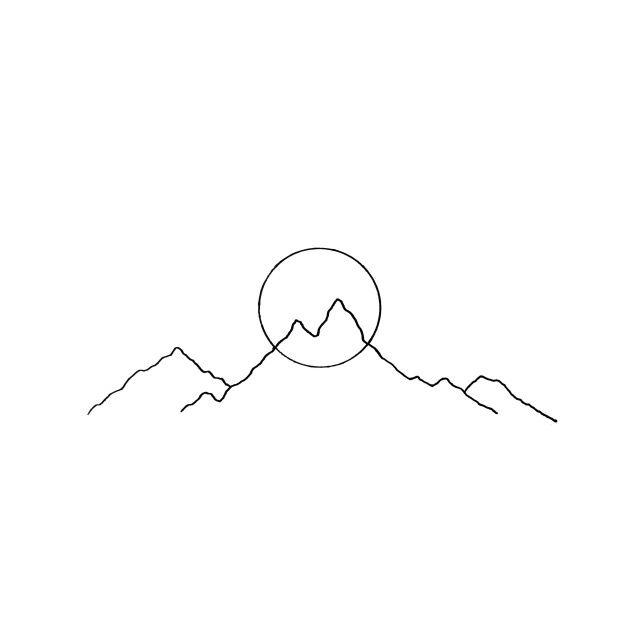 Simple Line Art Tattoos : Best simple mountain tattoo ideas on pinterest