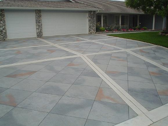 17 best images about tile patterns on concrete on for Tile driveway