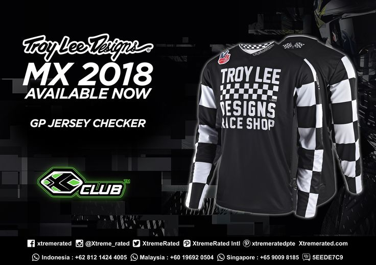 Designed with comfort and minimal weight in mind, the GP Jersey also offers the durability that TLD is known for. Troy Lee Designs MX18 Collections available now in all XClub Leading Stores.   #xtremerated #xclub #mx #troyleedesigns #GPjersey #moto #availablenow