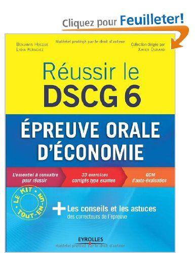 Réussir le DSCG 6 : Epreuve orale d'économie se déroulant partiellement en anglais: Amazon.fr: Benjamin Hocque, Lydia Kernevez: Livres