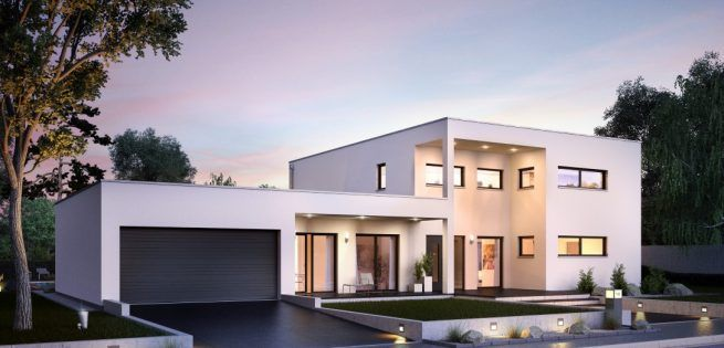 Einfamilienhaus neubau mit doppelgarage modern  Wahre Größe kennt keine Grenzen: Das Architektenhaus Ixeo von Kern ...