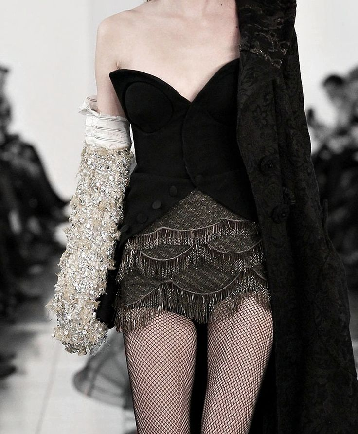 John Galliano for Maison Martin Margiela Haute Couture S/S 2015 Multiple fashion references to a ladies boudoir attire, perfectly balanced by texture and luxurious sexiness