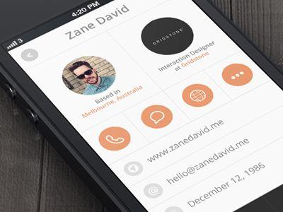 Profile Sreen by Zane David