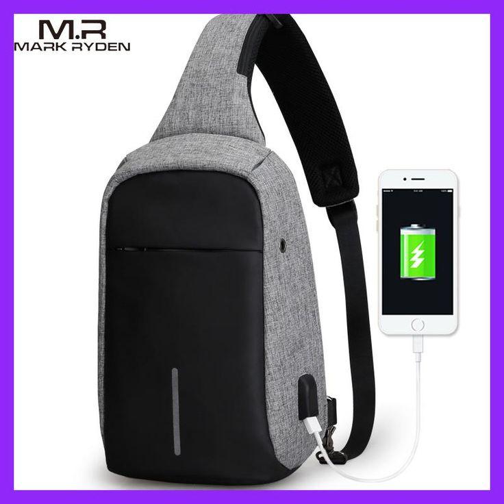 MarkRyden New Arrival Crossbody Bags Men Anti-theft Chest Pack Summer Short Trip Messengers Bag Water Repellent Shoulder Bag