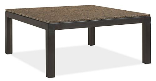 Parsons 36sq 15h Cocktail Table with Granite Tropic Brown Top - Cocktail Tables - Living: Accent Tables & Storage - Room & Board