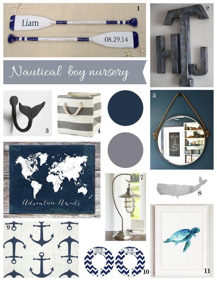 Navy and Grey Nursery Inspiration, nautical, explorer