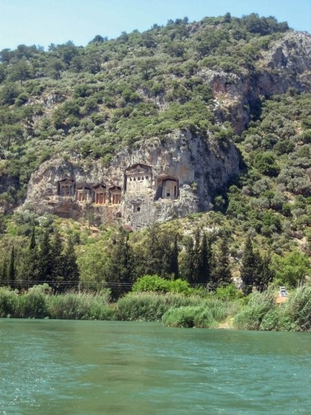 Temple Tombs of Ancient Kings of Caunos on the Dalyan River - Marmaris, Turkey