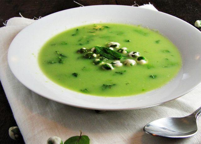Sopa de Ervilha com Wasabi