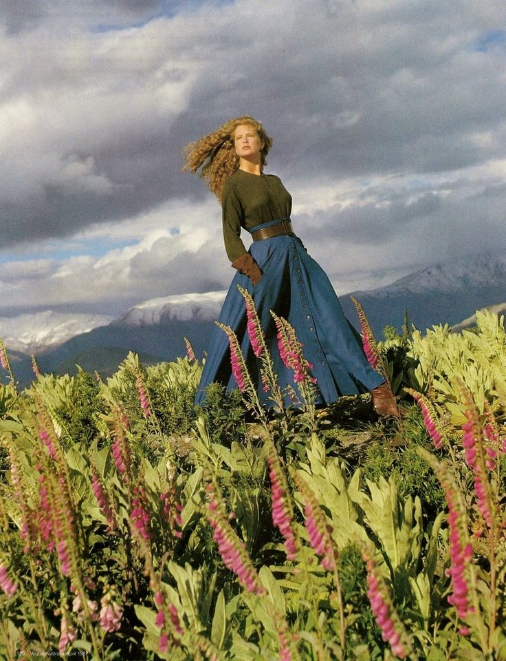 Vogue Australia Apr 1987 - Rachel Hunter by Grant Matthews