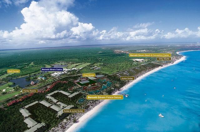 Barcelo Bavaro Beach Resort in Punta Cana, Dominican Republic.