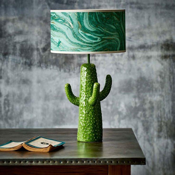 Cactus Table Lamp  Greenery   Graham & Green