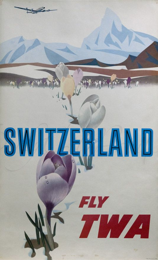 Travel poster Switzerland