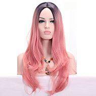 Pelucas+sintéticas+Sin+Tapa+Medio+Ondulado+Rosa+Peluca+de+cosplay+Las+pelucas+del+traje+–+COP+$+94.497