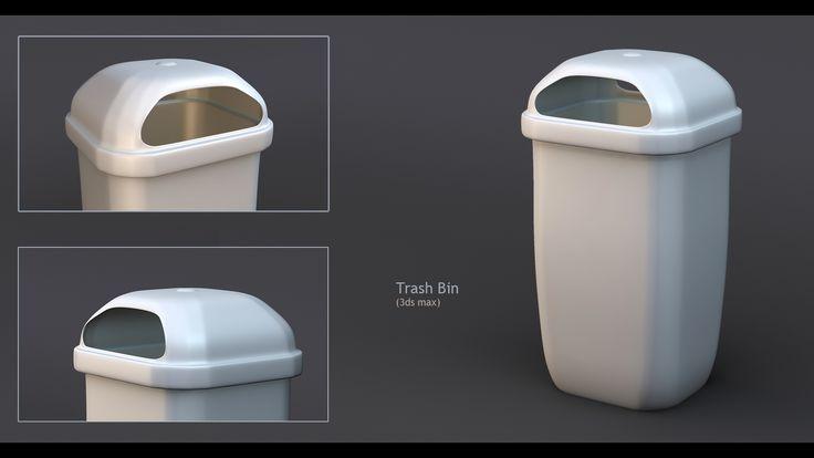 Trash bin done in 3ds max