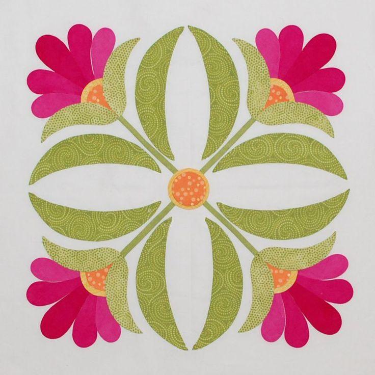 25+ parasta ideaa Pinterestissä: Flower applique patterns ... : quilt applique patterns free - Adamdwight.com