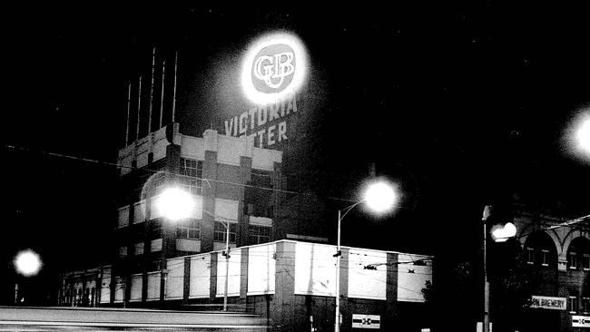 With its distinctive neon sign, the CUB brewery in Bouverie St was established in 1864 an