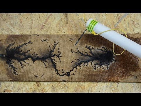 Detailed instructions for using high voltage electricity to burn Lichtenberg figures, sometimes referred to as fractal patterns, into wood