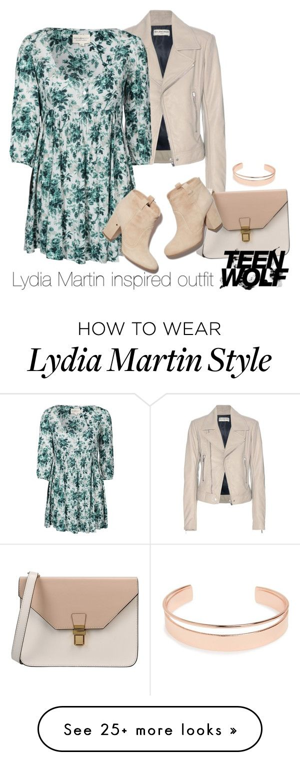 """""""Lydia Martin inspired outfit/TW"""" by tvdsarahmichele on Polyvore featuring Balenciaga, Denim & Supply by Ralph Lauren, 8, Laurence Dacade and Leith"""