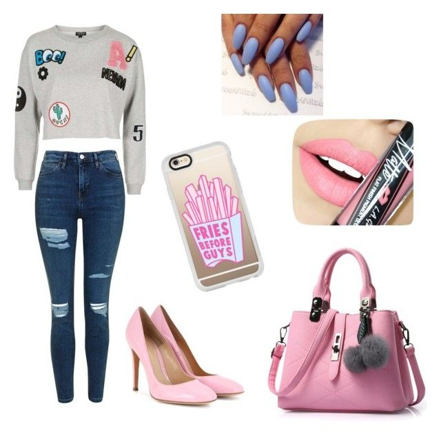 """"""""""" by martyna-janas on Polyvore featuring moda, Topshop, Gianvito Rossi, Fiebiger, Etcetera i Casetify"""