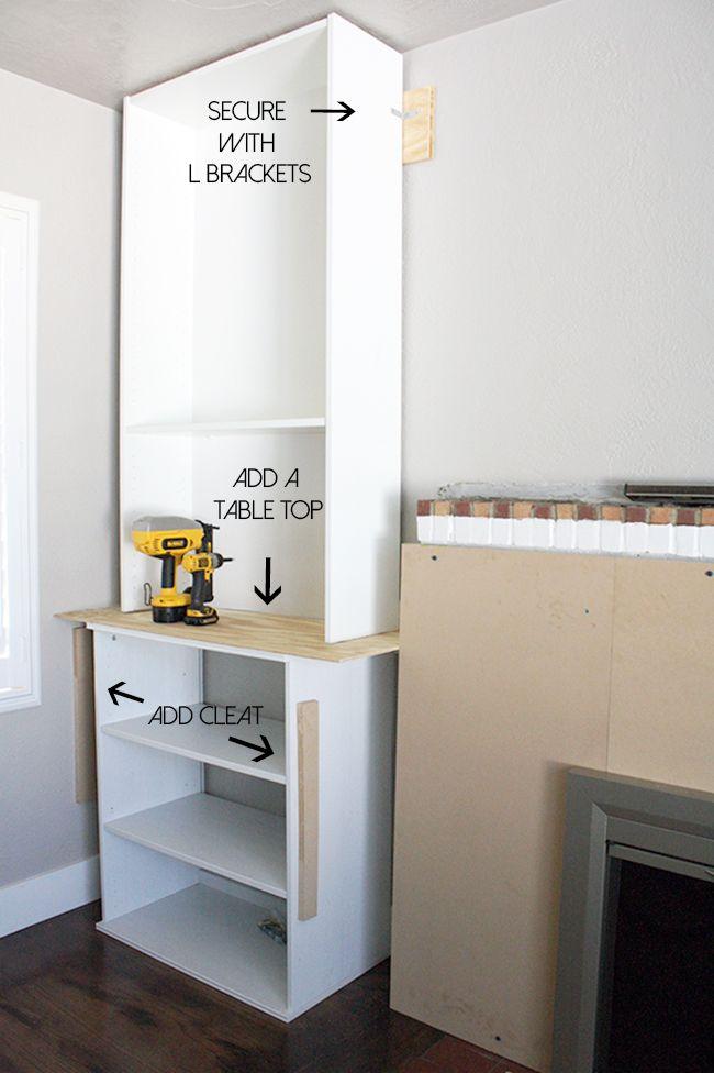 ikea hack, built-ins, fireplace, bookcase, billy bookcase, crane concept, diy, blog, blogger