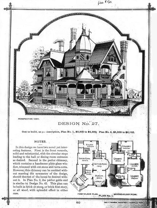 Victorian Era House Plans 4137 Best Architectural