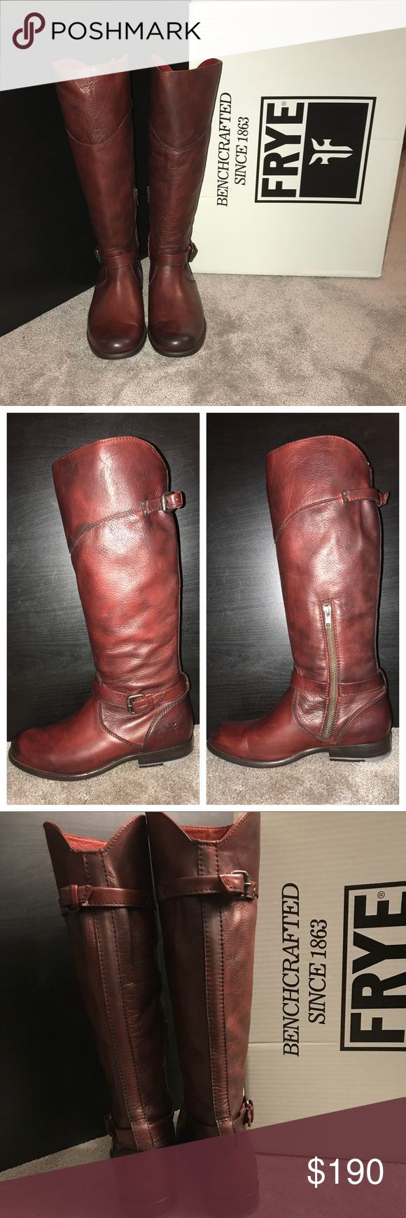 Frye Boots Frye Boots Size 9. Style Phillip Riding. Color Burnt Red. Brand new. Never worn. Original box. Frye Shoes