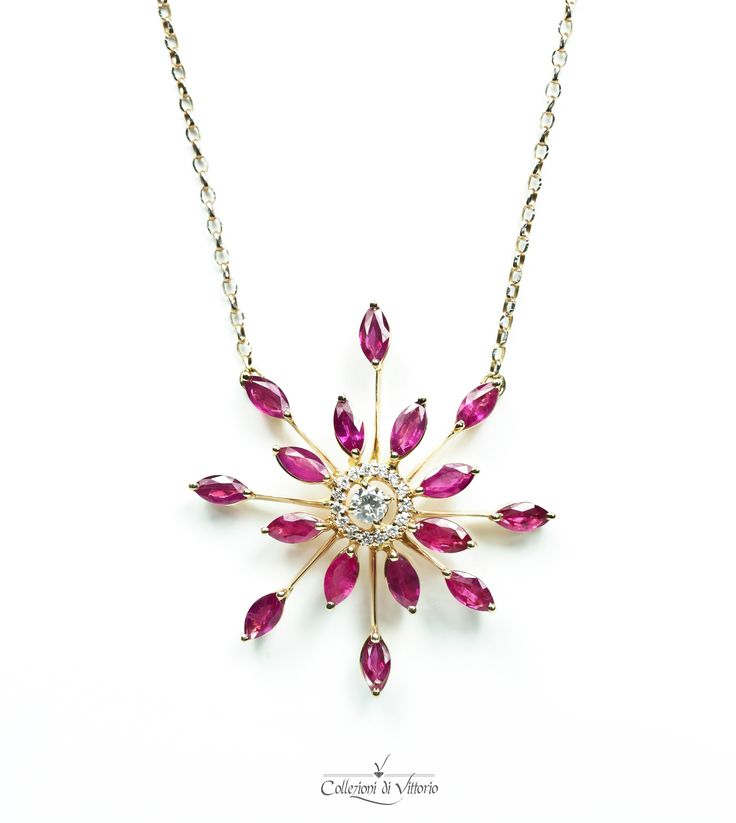 Stunning and unique ruby flower piece.