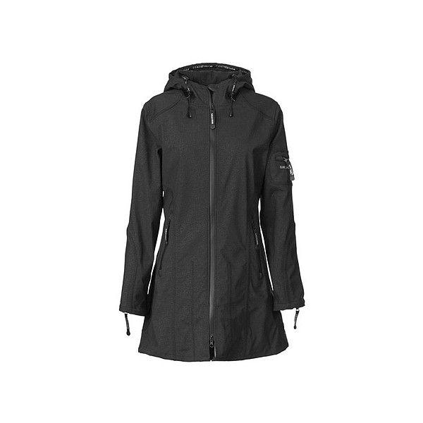 Ilse Jacobsen Rain 07 Outerwear ($329) ❤ liked on Polyvore featuring outerwear, coats, black, black raincoat, black rain coat, fleece lined rain coat, fleece lined raincoat and black coat