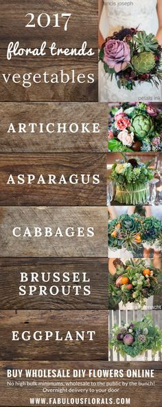 DIY vegetable Bouquet Trends! Browse our selection of bridal jewellery and save on retail prices at www.firststateauctions.com.au.