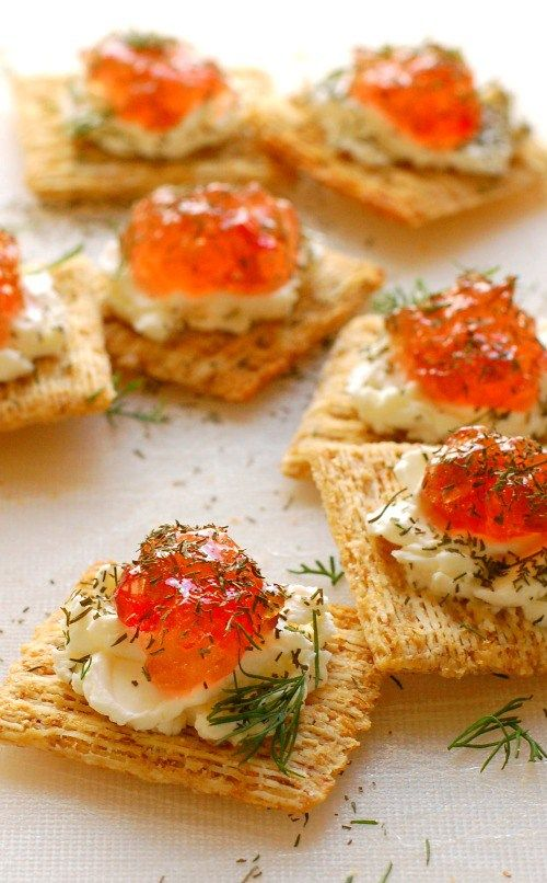 Pepper jelly cream cheese appetizer. So easy to make and every one loves them…