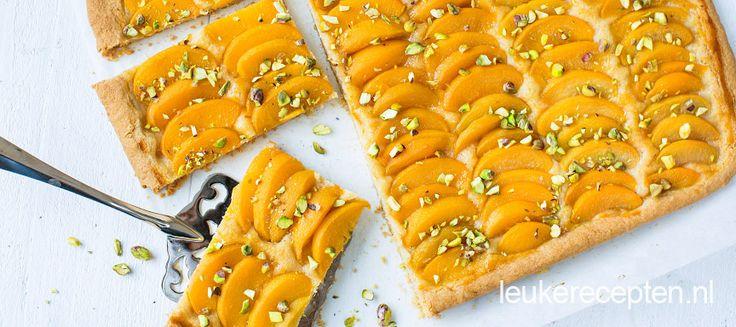 Plaattaart met perzik - Leuke recepten