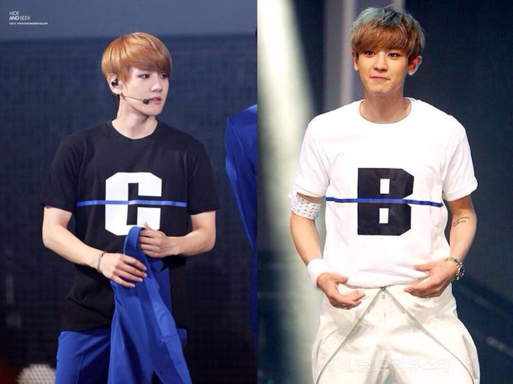 Baekyeol - I just realized that they both wear tee that represents their names for each other, Baek wear 'C' for Chanyeol and Chanyeol wear 'B' for Baekhyun...