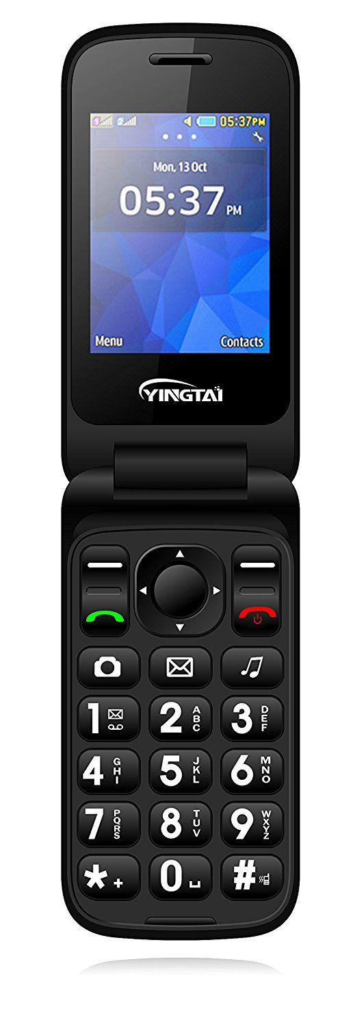 """YINGTAI T22 3G 2.4"""" Double Screen Easy to Use Dual SIM Dual Standby Filp Senior Phone-Big Volume Big Fonts Big Button with SOS Funtion Mobile Phone-Red: Amazon.co.uk: Electronics"""