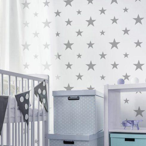 stars wallpaper stencil design boys nursery stars decor httpwwwcuttingedgestencils - Stencils For Boys