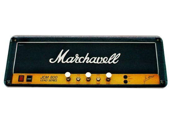 Porta Chave Marchavell, referência aos famosos amplificadores Marshall $55.00 - http://decor8.com.br