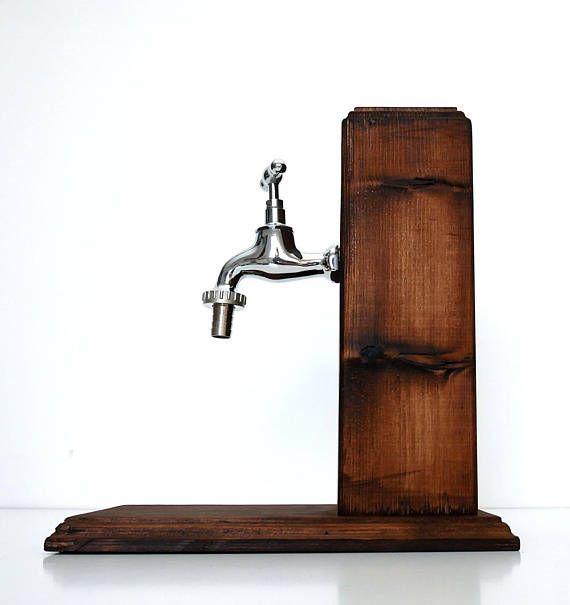 Dispensador de alcohol de madera hecho a mano / regalo de