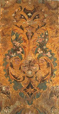 Een Goudleer fragment - Nederland - eerste helft / midden 18e eeuw
